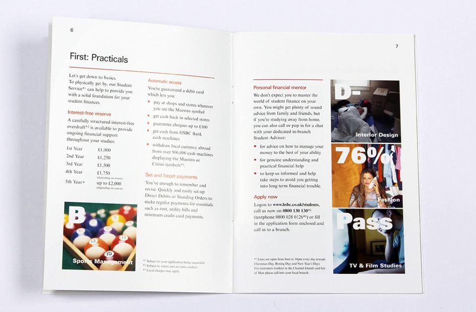 HSBC Student & Gap Year brochure | Freelance copywriter copywriting