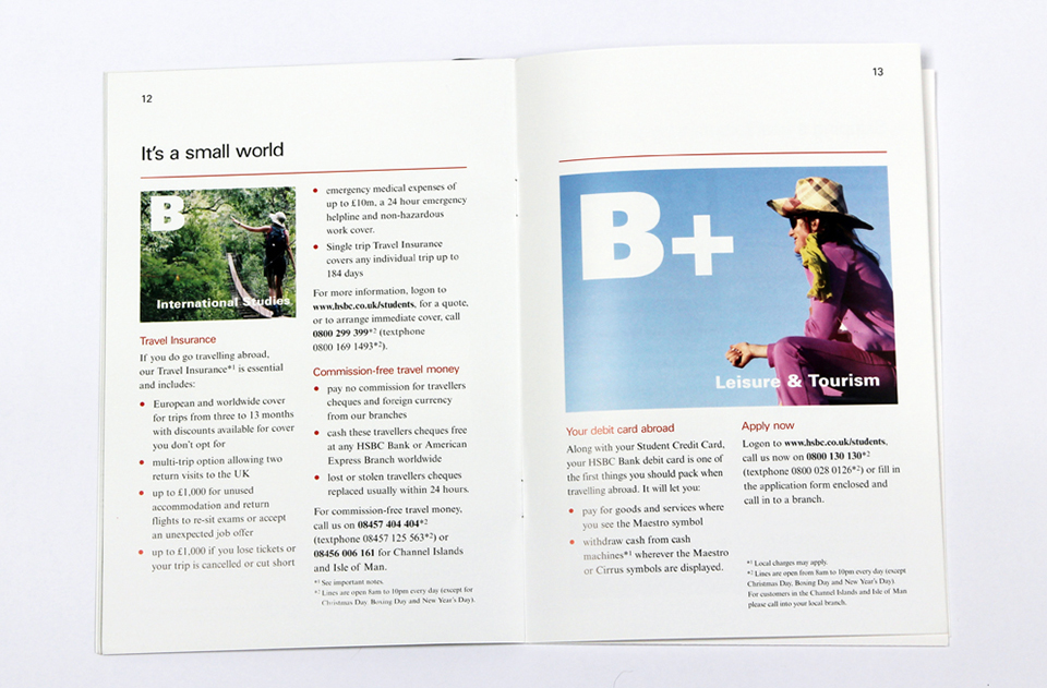 HSBC Student & Gap Year brochure | Freelance copywriter
